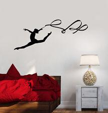 Vinyl Wall Decal Gymnastics Ribbon Sport Beautiful Women Stickers (992ig)