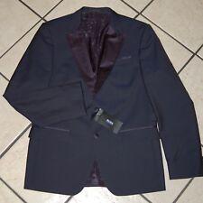 Hugo Boss Men's Helward Slim Fit Wool Dinner Jacket, Navy, Size 42R