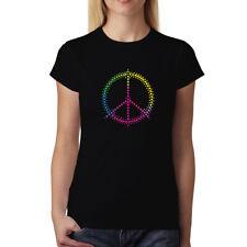 Vistoso Signo de la Paz Mujer Camiseta XS-3XL