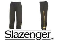 BNWT Boys SLAZENGER Fleece Tracksuit Pants/Jogging Bottoms 2-6y BLACK Sports NEW