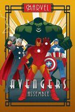 Marvel Avengers Assemble Art Deco Poster - NEW & OFFICIAL