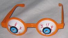 Halloween Costume Accessory - Orange Rim Blood Shot Eye Glasses