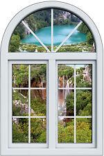 Sticker fenêtre trompe l'oeil Plitvice réf 1021