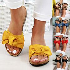 Women Flatform Platform Bow Sandals Flip Flops Peep Toe Wedge Shoes Size 6-10.5