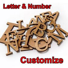 Wooden Customized Letter Number Door Letterbox Plate Craft Alphabet Modeling DIY