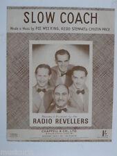 Songsheet LENTI ALLENATORE, RADIO Revellers 1941