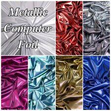 High Shine Computer Foil Pin Dot Metallic Dance Costume Bodre Dress Fabric