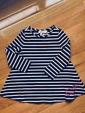 NWT Vineyard Vines Girls Whale Printed SWING DRESS Deep Bay Stripe $65