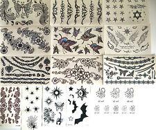 kidsbody art transfer henna temporary tatoo swan,party bags,bat,lion,angle wings