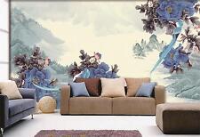 3D Blue Flower Mountain Art 381 Wall Paper Wall Print Decal Wall AJ WALLPAPER CA