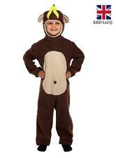 Boys MONKEY FANCY DRESS COSTUME Animal Jungle Ape Girls Childs Kids Zoo Kids UK
