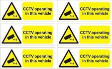 CCTV Taxi Bus vehicle warning sticker sign X 6  8cmx3cm video recording decal