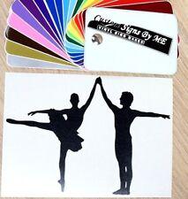 Couple Dancing Ballet Wall Sticker Vinyl Decal Adhesive Ballerina Window Black