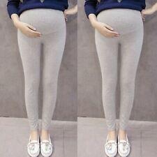 Pregnant Women's Pants Solid Thin Maternity Pregnancy Trousers Gary Pants L/2XL