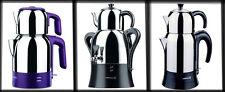 Théière électrique turque, thé, machine, bouilloire Caydanlik, semaver Korkmaz