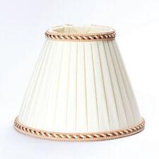 Stoffschirm Lampenschirm Aufnahme E27 unten 180 - 250mm creme Schirm Ersatz