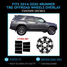 For 2017-2020 4Runner TRD Off Road Wheels Rim x4 Insert Vinyl Decals Flat Matte