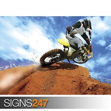 Crazy Motocross Bicicleta (1728) Moto Poster-arte cartel impresión A0 A1 A2 A3 A4