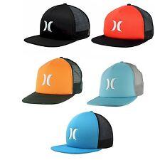 NEW Hurley Blocked Trucker Snapback Embroidered Hat Cap