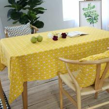 Heat Resistant  Table Cover Cotton Linen Tablecloth Rectangle Table Decorative