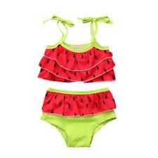 NEW Watermelon Girls Red Ruffle Tankini Bikini Swimsuit
