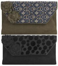 Ruby Shoo Capri Clutch Bag Black Brocade / Olive Hannah