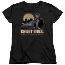 Knight Rider 80's NBC TV Series Full Moon Women's T-Shirt Tee