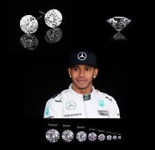 Men's/Boy's Lewis Hamilton White Gold Plate Cubic Zirconia Crystal Earrings