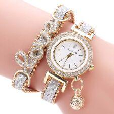 Women Jewelry Crystal Alloy Analog Quartz Bracelet Bangle Wrist Watch Band Charm