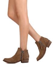 New Women Dolce Vita Sutton Suede Dual Zipper Stacked Heel Ankle Bootie