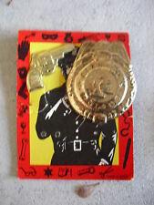 Vintage Dimestore Tin Badge Pin and Gun Clip LOOK