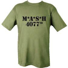 US MILITARY MASH T-SHIRT M*A*S*H 4077TH KOREAN WAR 100% COTTON USA TV CLOTHING