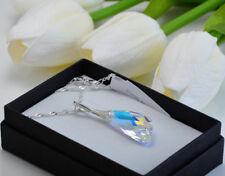925 Argento Sterling Collana realizzata con cristalli Swarovski * CRYSTAL AB * ALA