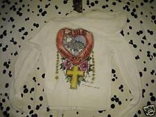 Nos L.A.M.B. Gwen Steffani 2005 Spring Heart Crest Cashmere Hoodie Sweatshirt M