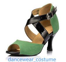 Ladies Women's Party Ballroom Latin Tango Salsa Dance Shoes Heels Sandals E34-42