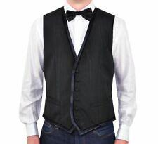 D&G DOLCE & GABBANA Weste Schwarz Waistcoat Vest Black Gilet Noir 00886