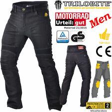 TRILOBITE Jeans PARADO HERREN schwarz Regular Motorradhose TÜV CE GS Protektoren