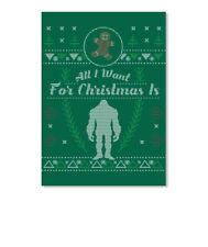 Unique Sasquatch Christmas Ugly Bigfoot Sticker - Portrait Sticker - Portrait