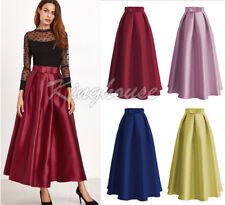 Muslim Women Casual Maxi Long Pleated Skirts High Waist Ladies Ball Gown