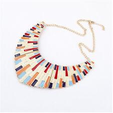 Fashion New Ladies Men 's Jewelery Fan Torque Enamel Statement Necklace Pendant