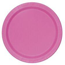 Hot Pink 18cm Dessert | Cake Party Paper Plates | Celebration | BBQ 1-48pk