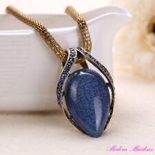 Lantern Chain Resin Gemstone Pendant Necklace 46cm Select Colour