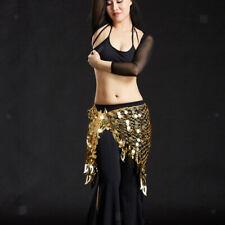 Femmes Danse du Ventre Costumes Hip Écharpe Wrap Ceinture Jupe Paillettes