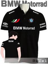 POLO  PRINTED BMW MOTORRAD 2 MOTOR TEAM ITALIA DISP. FELPA TSHIRT TUTA COL NERO