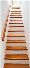 Papier peint pour porte trompe l'oeil Escalier réf 614