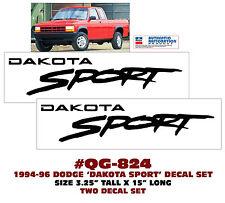 QG-824 1994-96 DODGE - DAKOTA SPORT - FENDER NAME - TWO DECAL SET - LICENSED