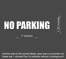 NO PARKING Sticker Sign Vinyl Decal Park Door Window