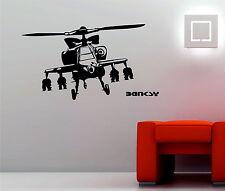 BANKSY Apache helicopter Decoración De Pared De Vinilo Sticker Decal Graffiti Art Dormitorio
