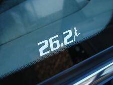 """26.2 Marathon Decal Sticker Runner Logo Run 3"""" 3.5"""" 5.5"""" 7.5"""" WHITE BLACK SILVER"""