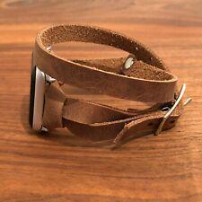 Handcrafted Apple Watch iWatch Band Multi Wrap Leather Strap Bracelet Women